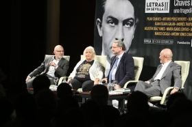 "Letras en Sevilla: 'Chaves Nogales, una tragedia española' con Pérez Reverte, Vigorra, Pilar Chaves y Antony Jones (4) • <a style=""font-size:0.8em;"" href=""http://www.flickr.com/photos/129072575@N05/38040473362/"" target=""_blank"">View on Flickr</a>"
