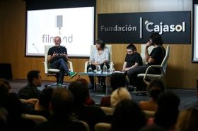 """Jornadas 'Los oficios del cine' en la Fundación Cajasol (6) • <a style=""""font-size:0.8em;"""" href=""""http://www.flickr.com/photos/129072575@N05/26359844169/"""" target=""""_blank"""">View on Flickr</a>"""