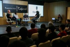 """Jornadas 'Los oficios del cine' en la Fundación Cajasol (11) • <a style=""""font-size:0.8em;"""" href=""""http://www.flickr.com/photos/129072575@N05/38104579242/"""" target=""""_blank"""">View on Flickr</a>"""