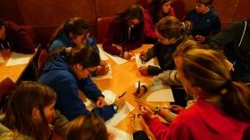 """Talleres educativos en la I Semana de las Letras de Cádiz en la Fundación Cajasol (8) • <a style=""""font-size:0.8em;"""" href=""""http://www.flickr.com/photos/129072575@N05/37574652495/"""" target=""""_blank"""">View on Flickr</a>"""