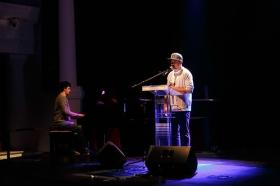 "Recital poético de Nach en la Fundación Cajasol (9) • <a style=""font-size:0.8em;"" href=""http://www.flickr.com/photos/129072575@N05/25380269888/"" target=""_blank"">View on Flickr</a>"