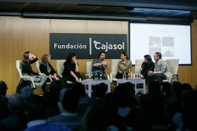 """Goya 2019 en Sevilla: Encuentro con los nominados a Mejor Película Iberoamericana en la Fundación Cajasol (17) • <a style=""""font-size:0.8em;"""" href=""""http://www.flickr.com/photos/129072575@N05/46242149644/"""" target=""""_blank"""">View on Flickr</a>"""