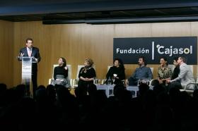 """Goya 2019 en Sevilla: Encuentro con los nominados a Mejor Película Iberoamericana en la Fundación Cajasol (7) • <a style=""""font-size:0.8em;"""" href=""""http://www.flickr.com/photos/129072575@N05/46242150714/"""" target=""""_blank"""">View on Flickr</a>"""