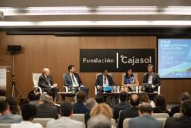 "IV Foro Iberoamericano de Alcaldes en la Fundación Cajasol (12) • <a style=""font-size:0.8em;"" href=""http://www.flickr.com/photos/129072575@N05/48744786931/"" target=""_blank"">View on Flickr</a>"