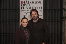 "Diálogos con el Flamenco 2019 en Sevilla: Rocío Molina e Isaki Lacuesta (3) • <a style=""font-size:0.8em;"" href=""http://www.flickr.com/photos/129072575@N05/49064216902/"" target=""_blank"">View on Flickr</a>"