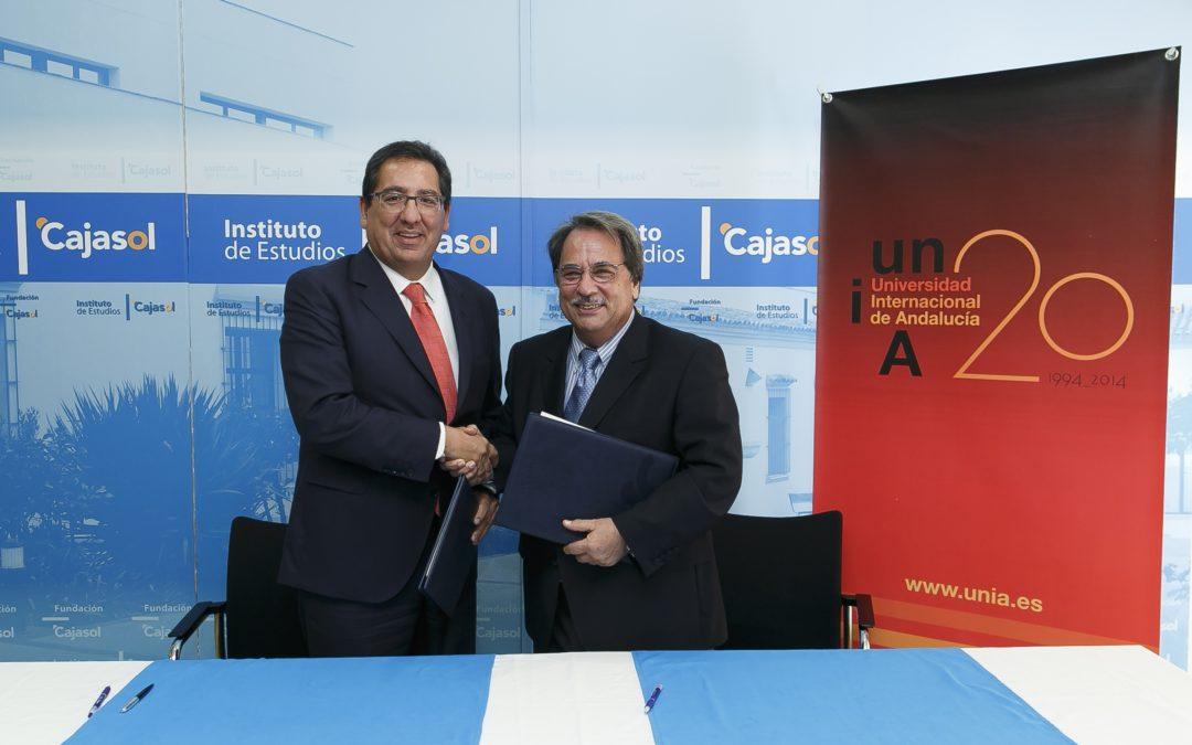 El Instituto de Estudios Cajasol y la Universidad Internacional de Andalucía suman esfuerzos para impartir formación conjunta