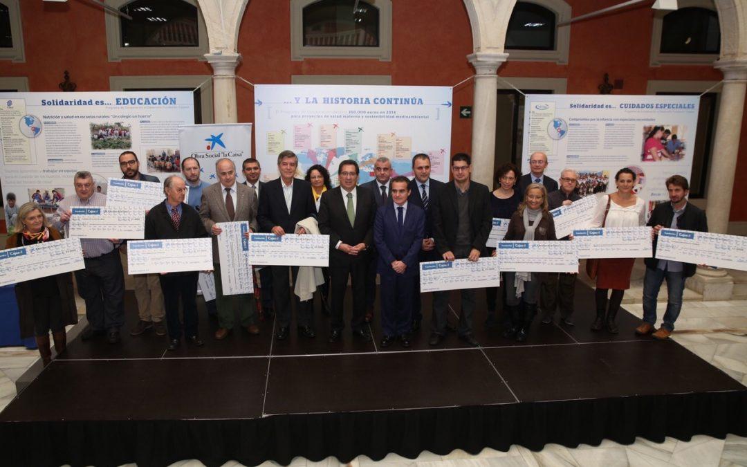 El Programa Cooperación al Desarrollo de la Fundación Cajasol entrega 350.000 euros a 18 proyectos de once países