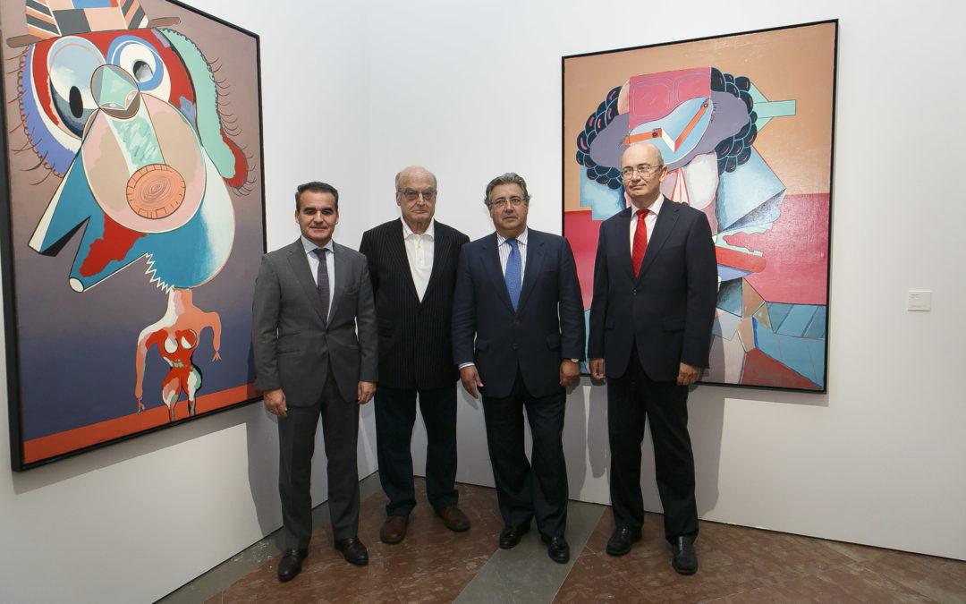 La exposición 'Las cabezas', de Luis Gordillo, en el Salón Alto del apeadero del Real Alcázar hasta el 9 de enero