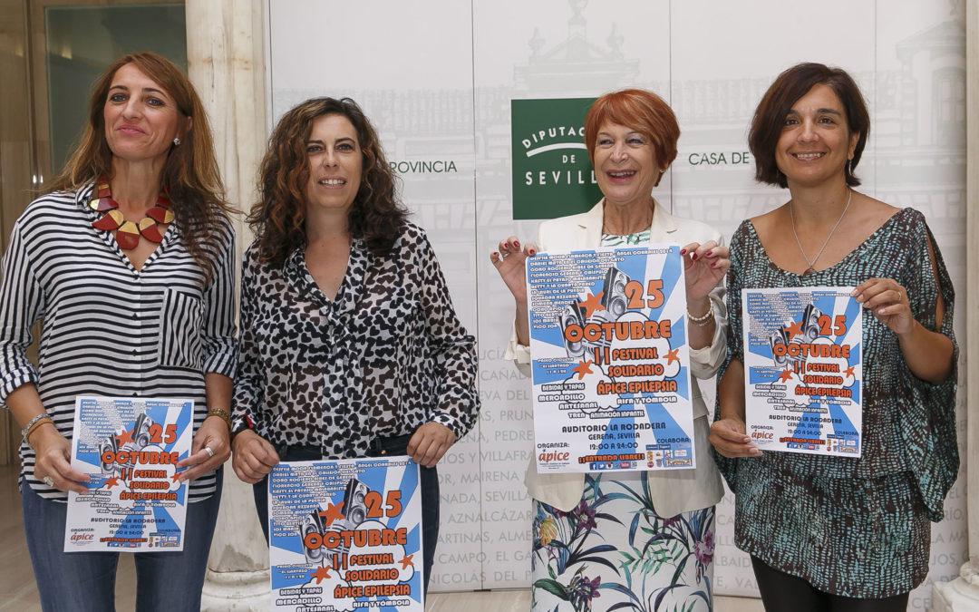 La Fundación Cajasol colabora con el II Festival Solidario 'Ápice Epilepsia' que se celebra en el Auditorio La Rodadera de Gerena