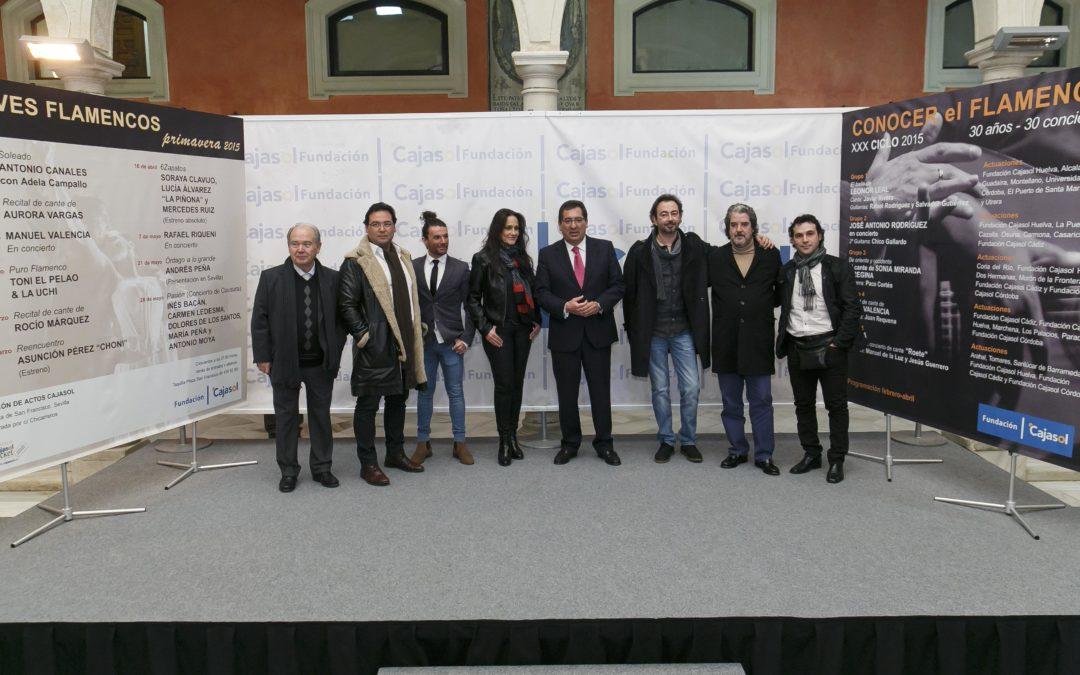 La Fundación Cajasol presenta el nuevo cartel del ciclo de primavera de los 'Jueves Flamencos'