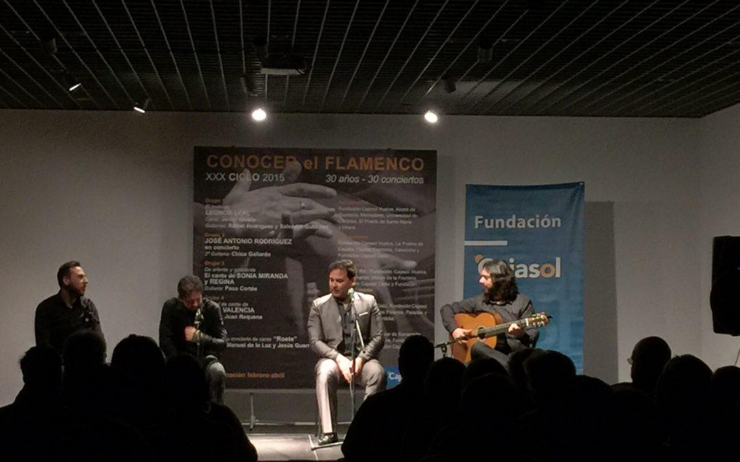 José Valencia inauguró el Ciclo 'Conocer el Flamenco' de la  Fundación Cajasol en Córdoba