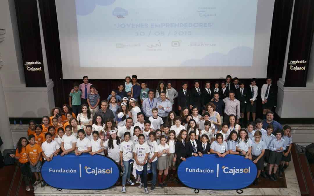 Todo el talento de la II Competición Thamer de Jóvenes Emprendedores se unió en la Fundación Cajasol