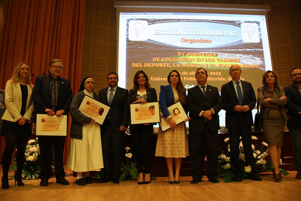 La Fundacion Cajasol colabora con las XV Jornadas de Escuela Cultura de Paz en la formación a través de los valores del deporte, la música y el voluntariado