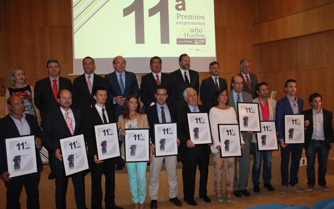 Antonio Pulido participa en la entrega del Premio Empresario del Año de Huelva en la FOE