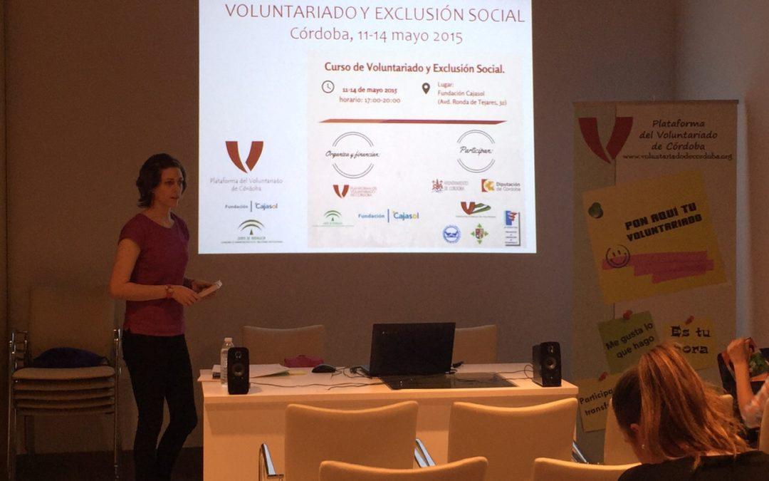 III Curso de Voluntariado y Exclusión en la sede de la Fundación Cajasol en Córdoba