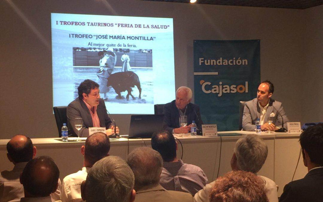 'Puerta de Los Califas' y la Asociación Cultural Taurina Carloteña presentan los I Trofeos Taurinos 'Feria de la Salud' en la Fundación Cajasol