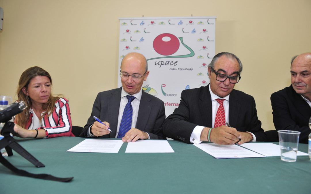 La Fundación Cajasol respalda la labor de Upace San Fernando