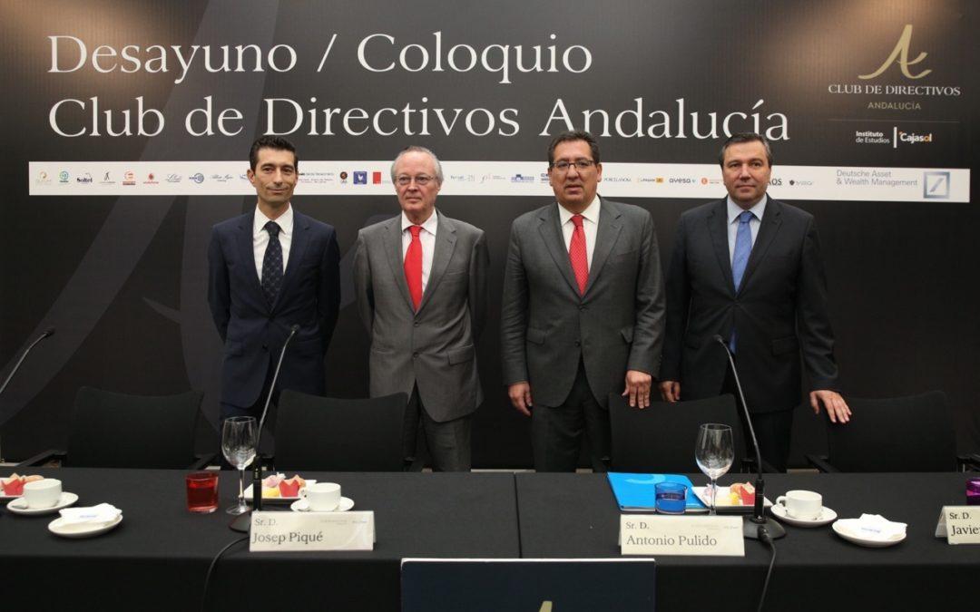 """Josep Piqué, en el Club de Directivos Andalucía: """"Las expectativas de romper con políticas coherentes con la eurozona crea incertidumbre y parálisis"""""""