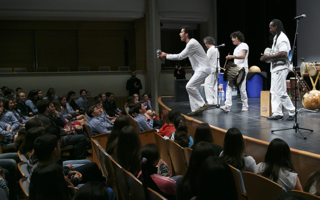Más de 350 escolares aprenden 'El mundo de la percusión' en una nueva sesión de los Conciertos Didácticos de la Fundación Cajasol