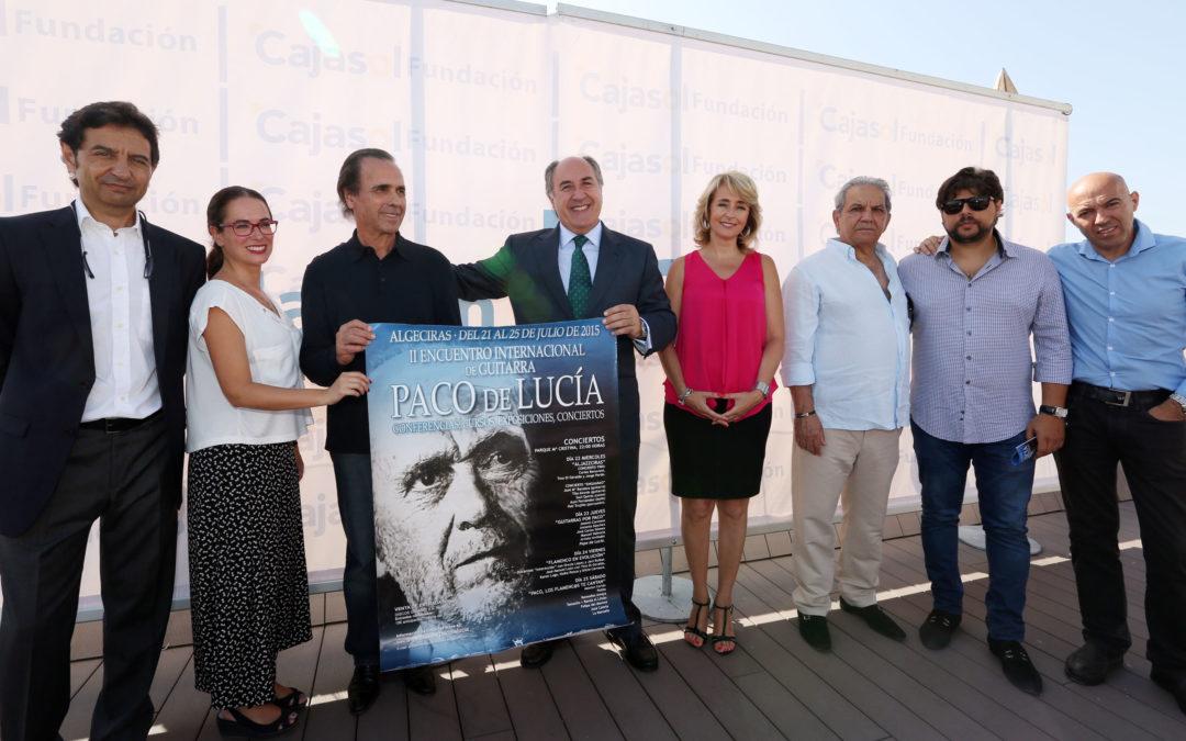 Presentación del II Encuentro Internacional de Guitarra Paco de Lucía