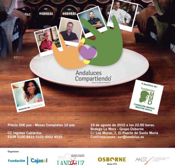 Solidaridad y alta gastronomía en la II Gala Benéfica 'Abocados a compartir' de Andaluces Compartiendo
