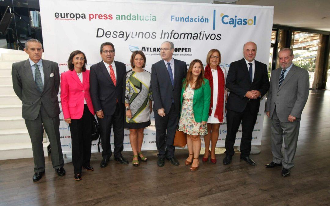 """Antonio Pulido: """"Córdoba se enfrenta al reto de afianzar el paso en el camino hacia la recuperación económica y podrá contar siempre con el apoyo de la Fundación Cajasol"""""""