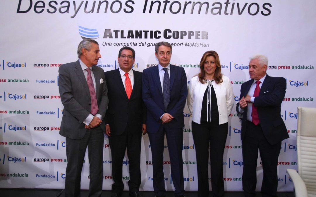 Rodríguez Zapatero, en los Desayunos de Europa Press desde la Fundación Cajasol