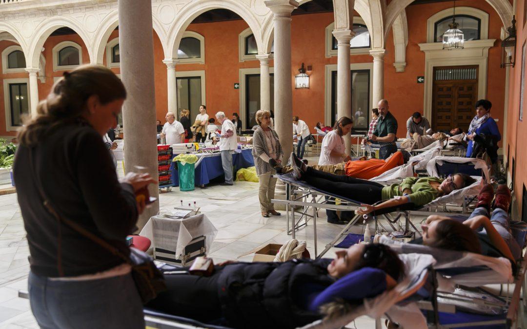 Maratón de donación de sangre en la sede de la Fundación Cajasol