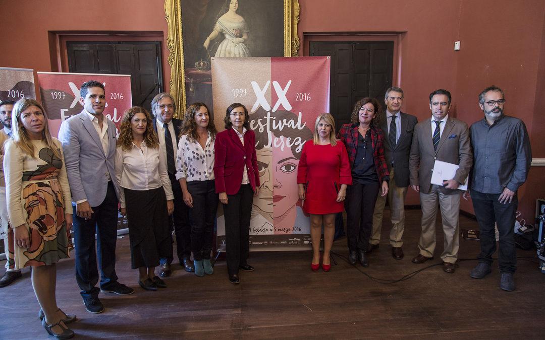 El XX Festival de Jerez, entre el 19 de febrero y el 5 de marzo de 2016