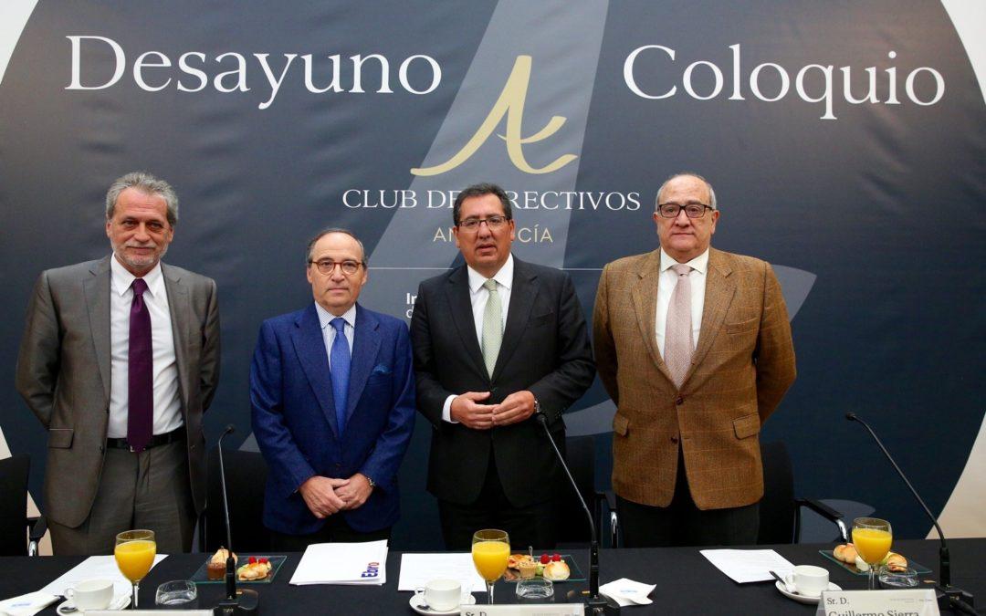 """Antonio Pulido, en el Club de Directivos Andalucía: """"El ejemplo de Ebro Foods es un fuerte incentivo para las empresas andaluzas"""""""