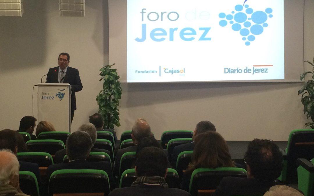 """Antonio Pulido en el Foro de Jerez: """"Jerez necesita más empresas grandes, modernas, innovadoras y abiertas al mundo"""""""