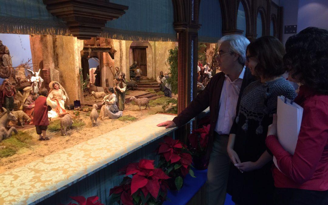 La Fundación Cajasol en Huelva inicia su amplio programa de actividades para la Navidad con la inauguración del Belén