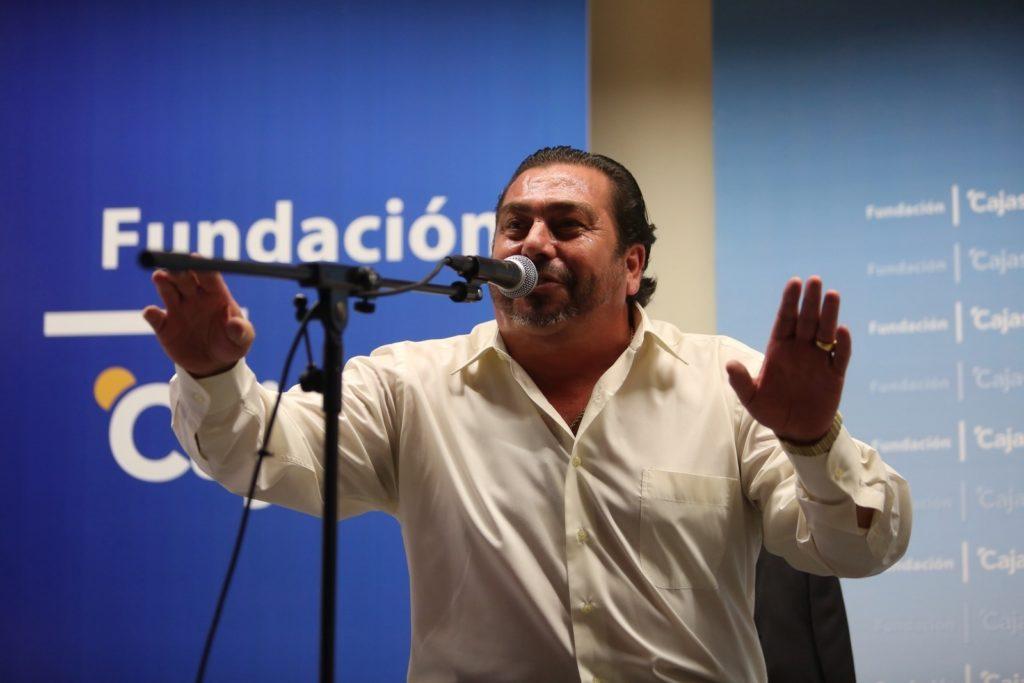 Paco Reyes, durante su actuación en los Viernes Flamencos de la Fundación Cajasol