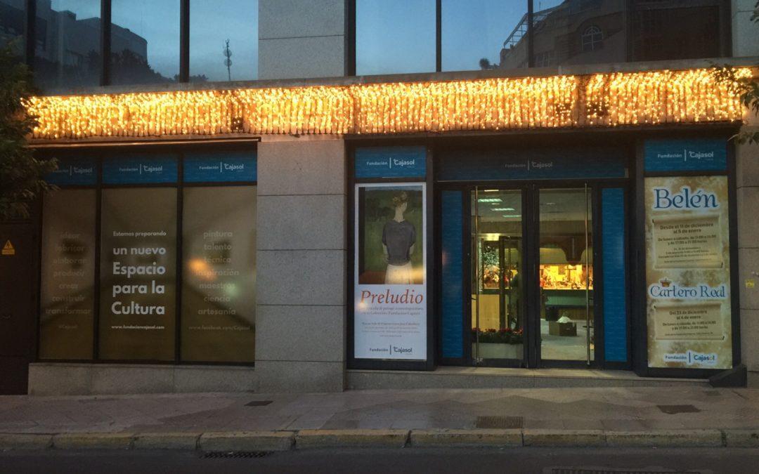 La Fundación Cajasol inicia la Navidad en Huelva con la inauguración del Belén en su sede de la calle Puerto