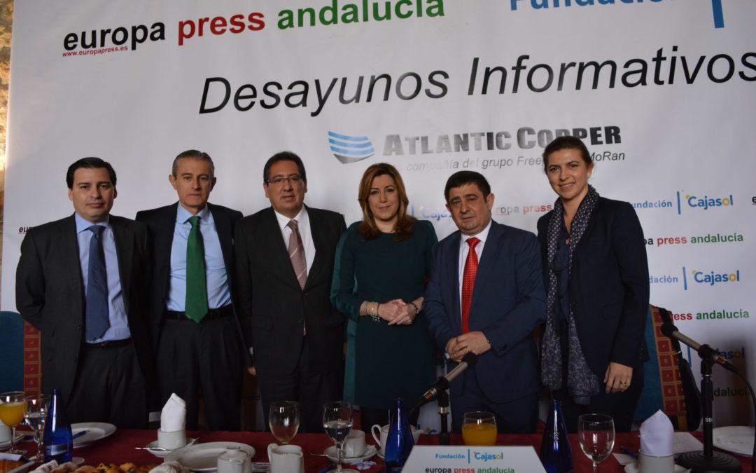 Antonio Pulido asiste al Desayuno Informativo de Europa Press con Francisco Reyes en Jaén