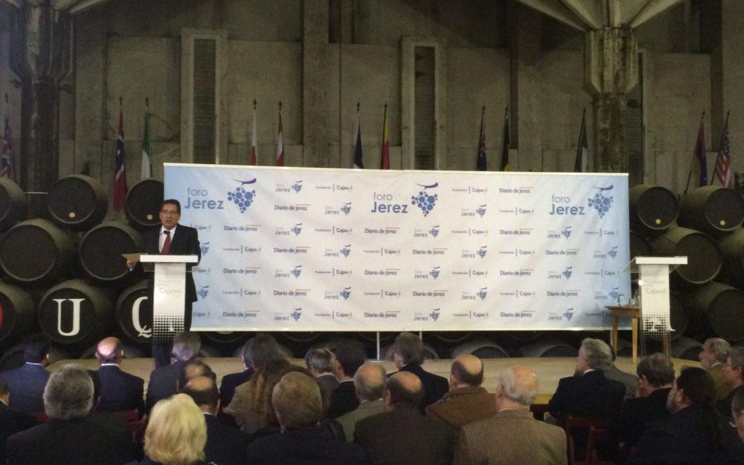 Antonio Pulido asiste a la conferencia de Jesús Medina García de Polavieja en el Foro de Jerez