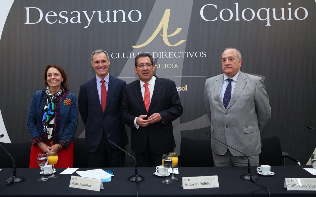 Desayuno-Coloquio del Club de Directivos Andalucía con Silvio González, consejero delegado del Grupo Atresmedia