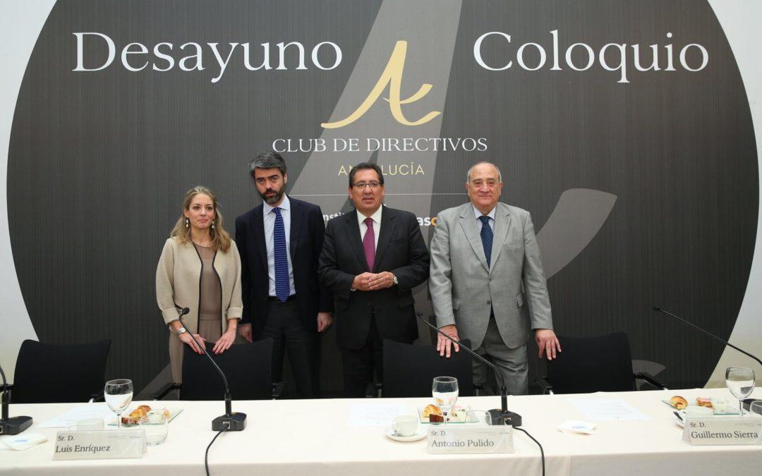 Antonio Pulido asiste al Club de Directivos Andalucía con la conferencia de Luis Enríquez, CEO de Vocento