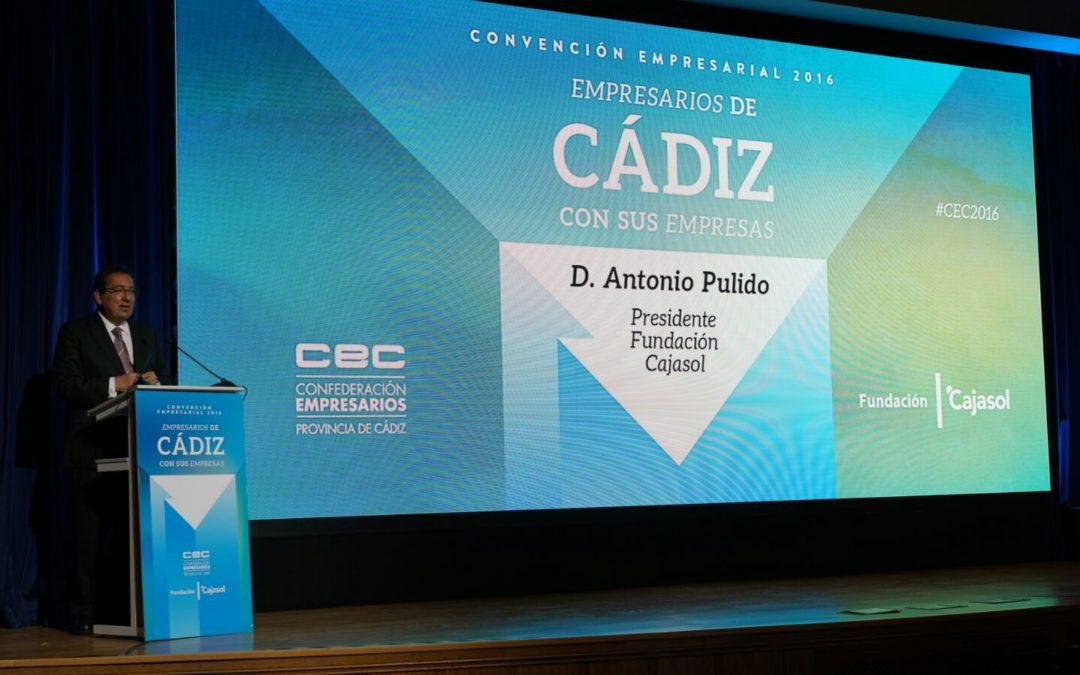 Antonio Pulido asiste a la II Convención Empresarial de la CEC