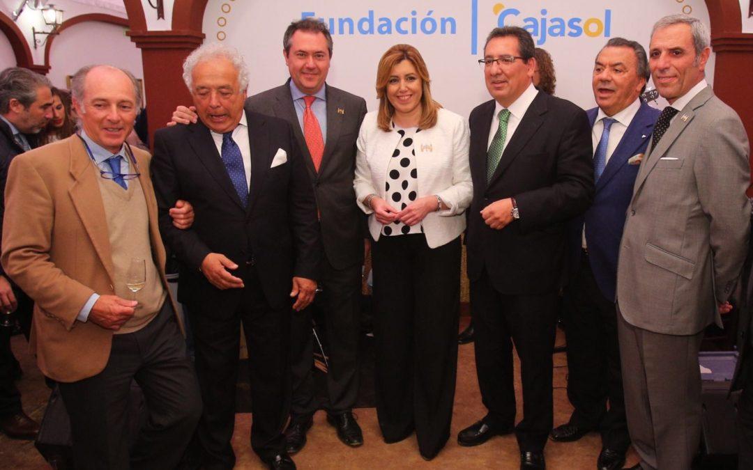 Recepción institucional de la Fundación Cajasol en la Feria de Abril 2016