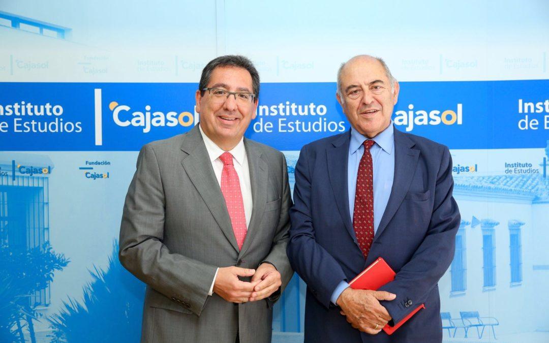 """Antonio Pulido, en la conferencia de José Antonio Marina: """"Desde la Fundación Cajasol y el Instituto de Estudios trabajamos para generar talentos"""""""