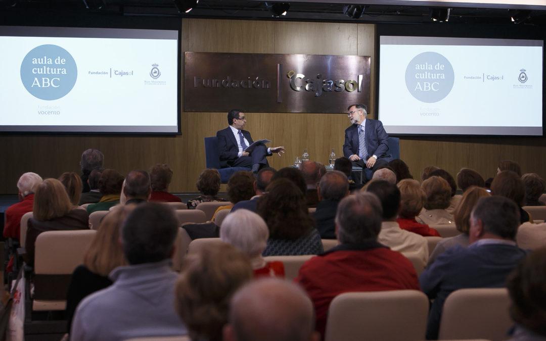 Charla-coloquio sobre el libro 'Altamira, historia de una polémica', con José Calvo Poyato en el Aula de Cultura de ABC