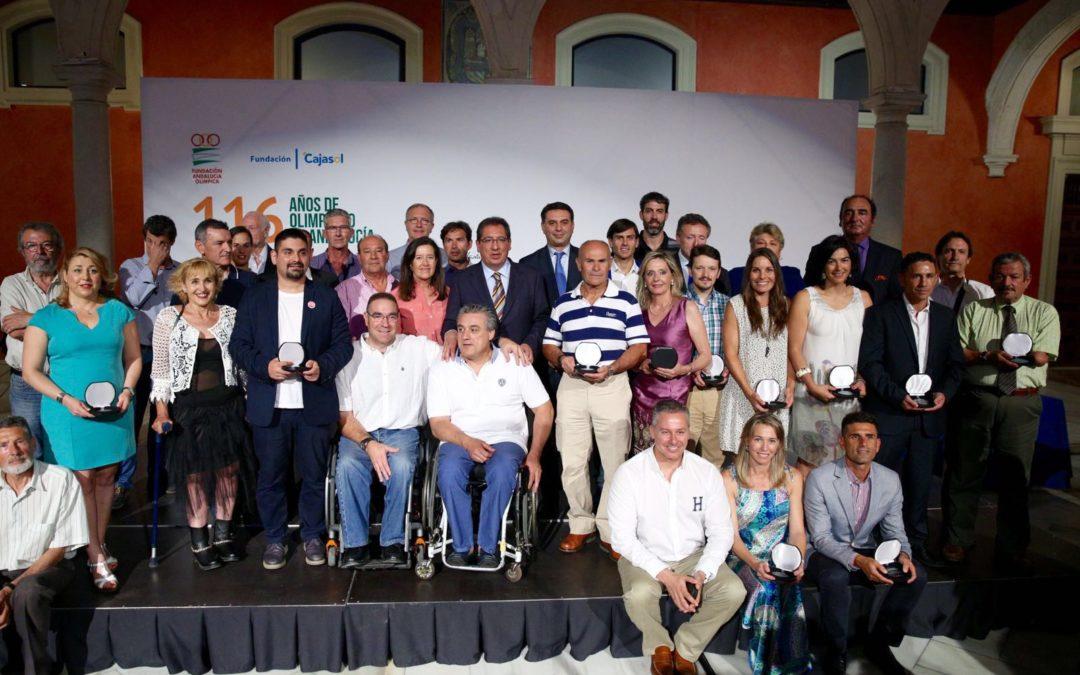 Antonio Pulido asiste al acto de homenaje '116 años de Olimpismo en Andalucía' en la Fundación Cajasol