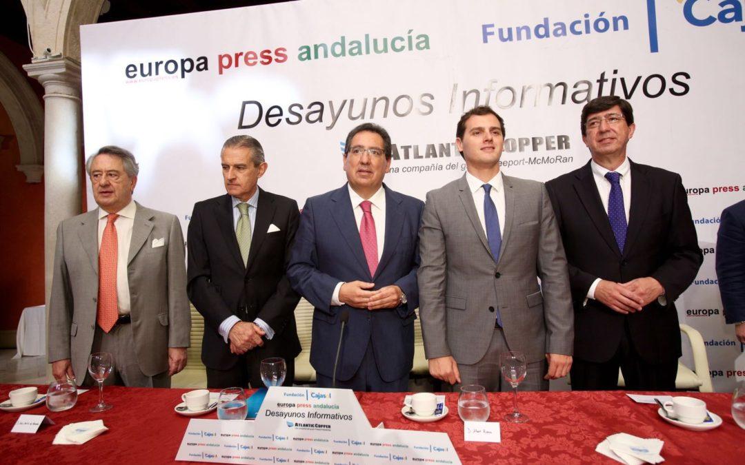 Antonio Pulido asiste al Desayuno Informativo de Europa Press Andalucía con Albert Rivera