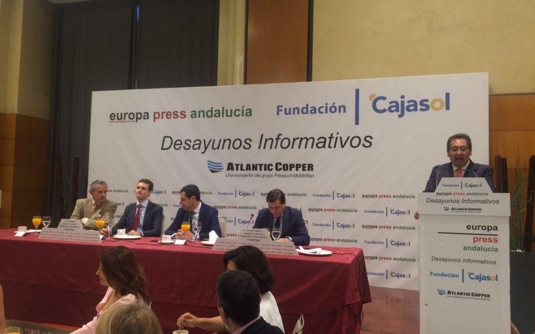 Antonio Pulido asiste al Desayuno Informativo de Europa Press con Pablo Casado