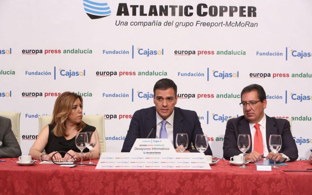 Antonio Pulido, en los Desayunos de Europa Press Andalucía con Pedro Sánchez como invitado