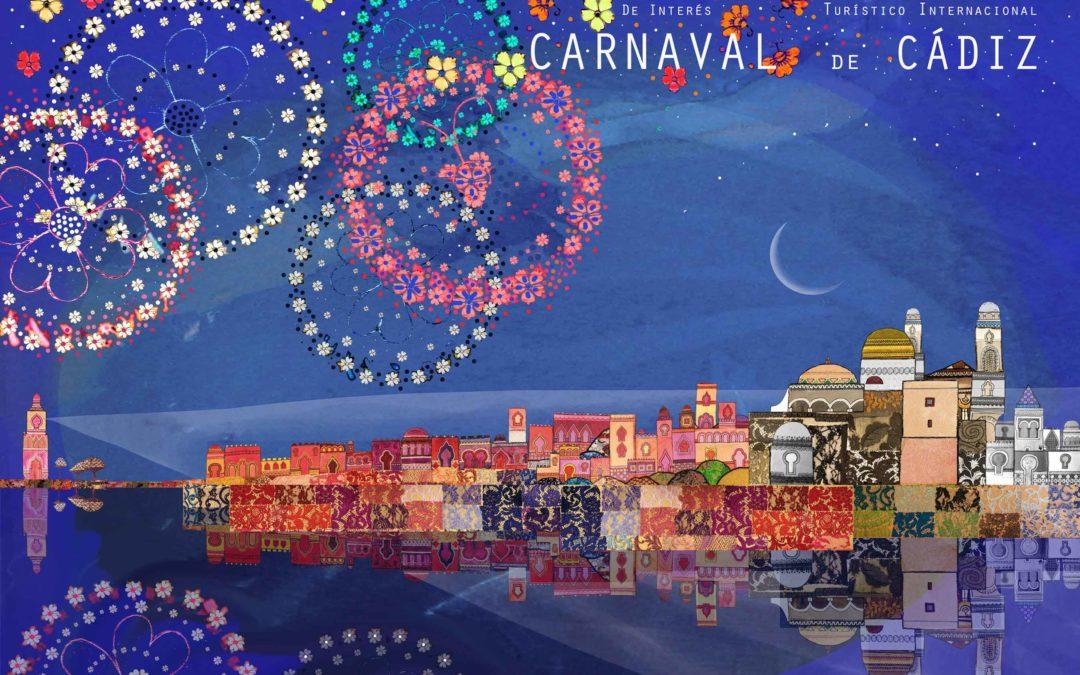 Exposición con carteles del Carnaval de Cádiz 2017 en Fundación Cajasol