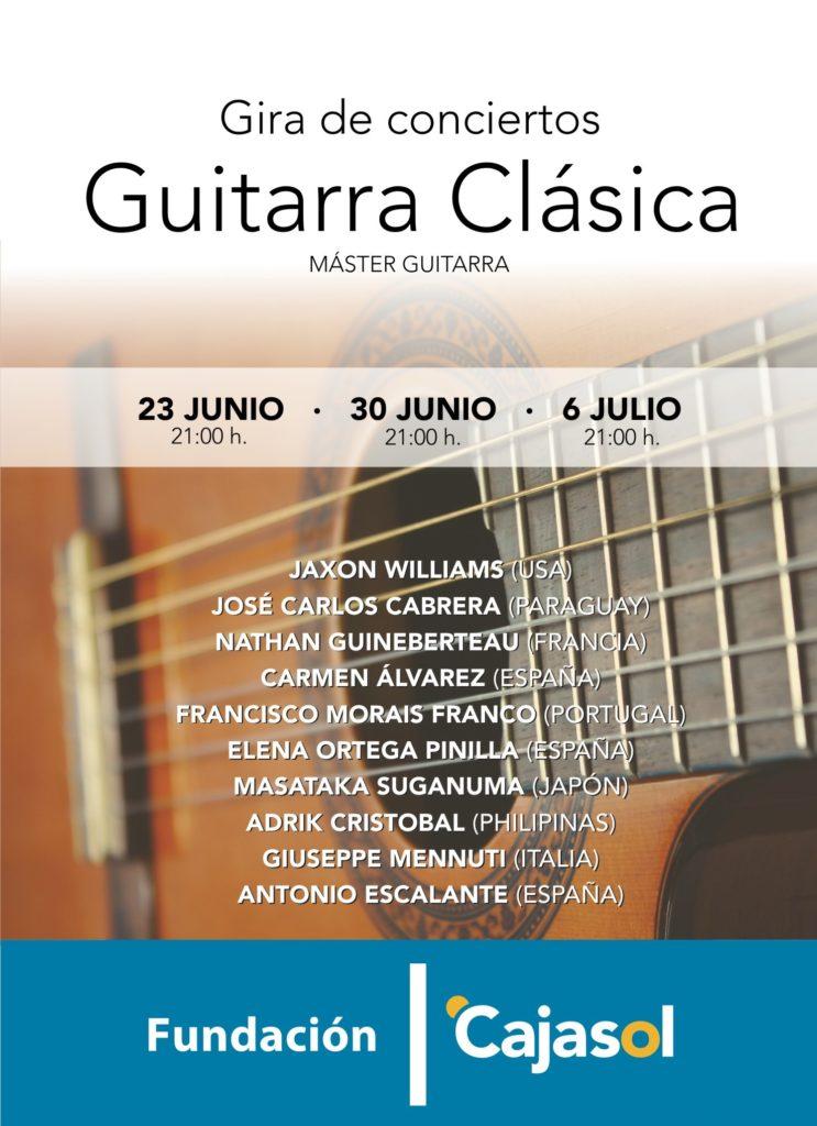 Cartel del ciclo de guitarra clásica en la Fundación Cajasol