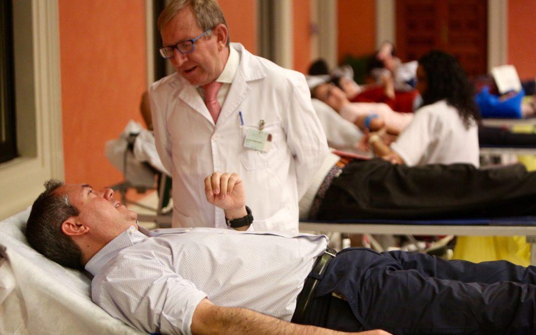 Maratón de donación de sangre en la Fundación Cajasol