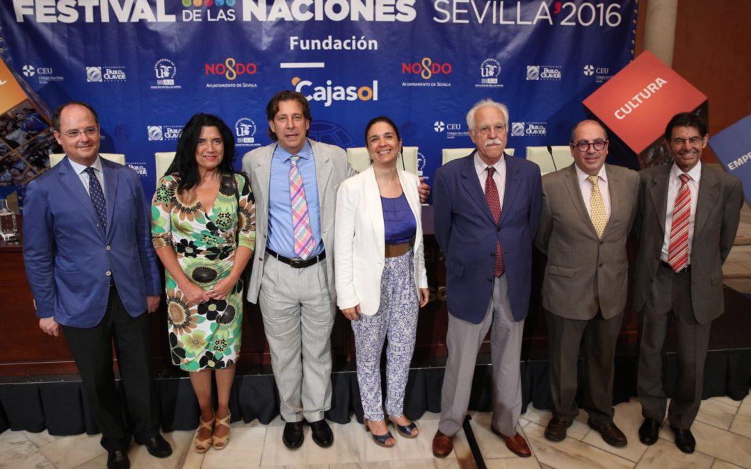 Presentación de la XXIII edición del Festival de las Naciones en Sevilla desde la Fundación Cajasol